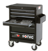 Sonic S8 tool cart filled 206-pieces black - 720606